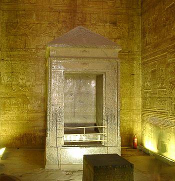 English: Naos of Horus Temple in Edfu, Egypt M...