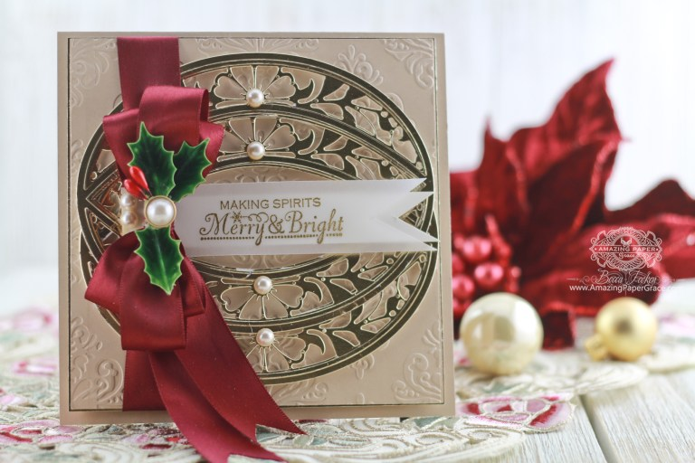 Embrace the Elegance of a Repeating Motif in One Die Cards