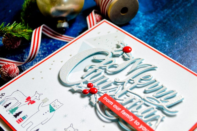Quick Technique | Holiday Card by Yana Smakula for Spellbinders using S4-774 Merry Christmas Die