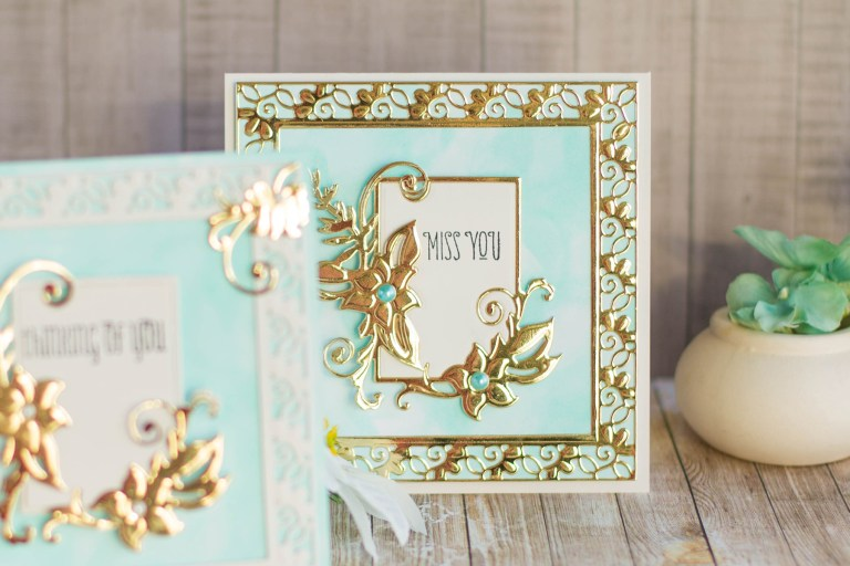 Spellbinders DOMXL-OCT17 Floral Lace Frame Die Set - Large Die of the Month Club. Handmade card by Helen Salo #spellbinders #spellbindersclubkits #diecutting #neverstopmaking #papercrafting