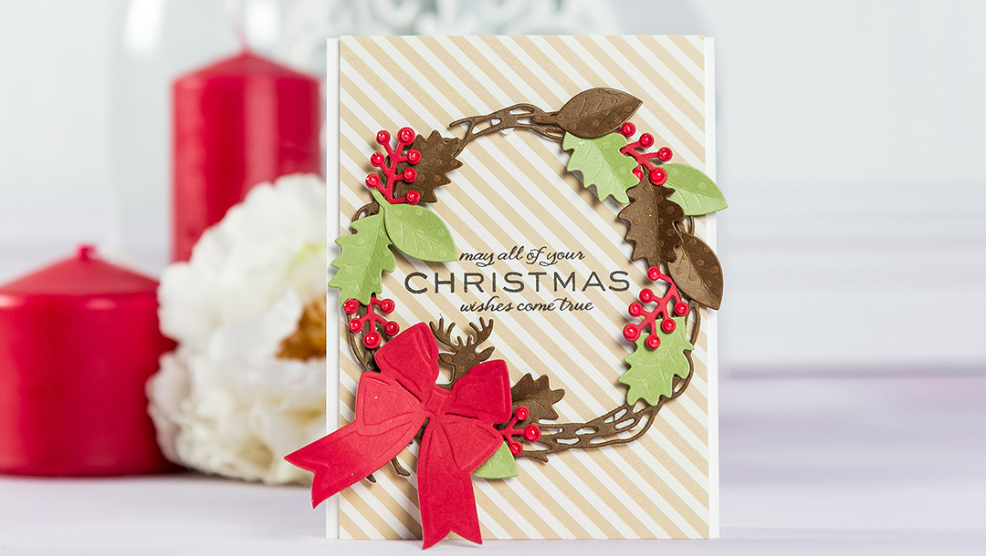 Cardmaking Inspiration | Christmas Wishes Card by Yana Smakula using Lene Lok Four Seasons Collection for Spellbinders #spellbinders #christmascard #cardmaking Cardmaking Inspiration | Christmas Wishes Card by Yana Smakula using Lene Lok Four Seasons Collection for Spellbinders #spellbinders #christmascard #cardmaking