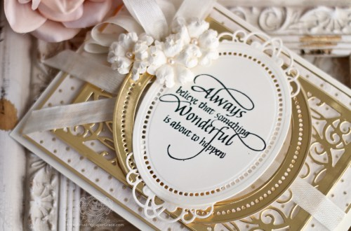 3D Vignettes   From 3D to Flat and Fabulous by Becca Feeken for Spellbinders using S6-136 Grand Dome 3D Card, S5-332 Hemstitch Ovals and S4-867 Cinch and Go Flowers III #Spellbinders #Diecutting #Stamping #Handmadecards