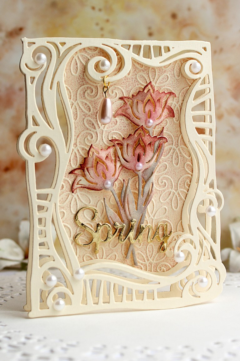 Video Friday | Swirl Frame Cards with Olga for Spellbinders using: S5-354 Swirl Frame, S3-308 Seasonal Words, S4-563 Phrase Set One, S5-338 Wreath Elements, S5-350 Borders, SES-013 Flourish Stitch #spellbinders #neverstopmaking #diecutting #handmadecard