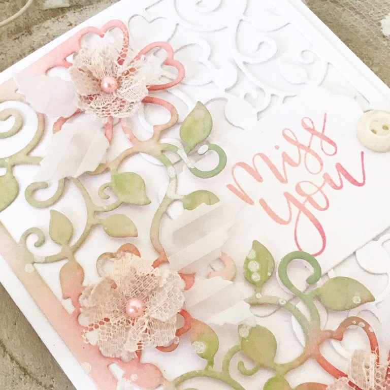 Blooming Garden Collection by Marisa Job Inspiration   Layered Cards by Melissa Phillips for Spellbinders using S3-335 Rose Buds, S4-914 Side Floral Panel, S4-916 Blooming Rose dies #spellbinders #neverstopmaking #diecutting #handmadecard
