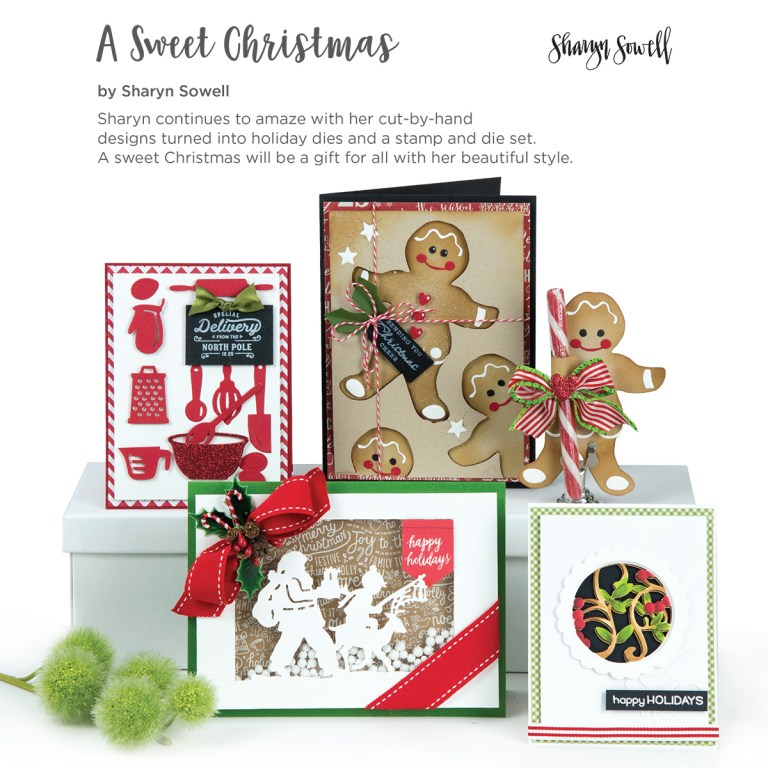 Spellbinders A Sweet Christmas Inspiration   Collection Introduction by Sharyn Sowell #spellbinders #neverstopmaking #sharynsowell