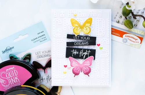 Spellbinders NEW Clear Stamps | Let Your Dreams Take Flight Card #spellbinders #neverstopmaking
