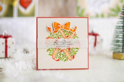 Zenspired Holidays Inspiration | Joyful Season Handmade Christmas Card by Elena Salo for Spellbinders #spellbinders #christmascard #neverstopmaking