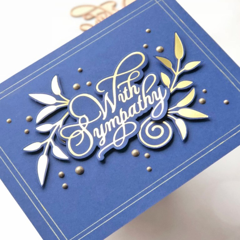 Glorious Glimmer Collection by Becca Feeken - Inspiration   Clean & Simple Cards with Brenda Noelke for Spellbinders