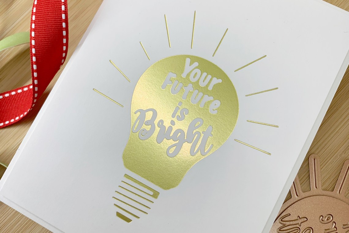 Spellbinders Glimmer Plates Inspiration | Clean & Simple Foiled Cards with Laurie