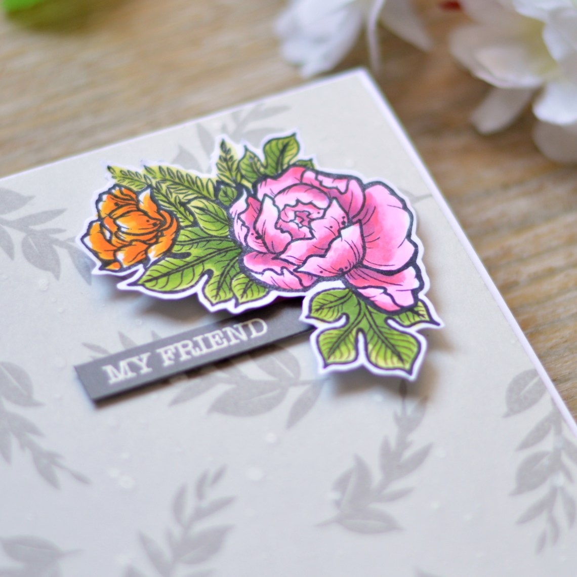 Just Add Color Collection by Stephanie Low Inspiration   Video: How to Make a Beautiful Floral Gift Card Set with Therese Calvird for Spellbinders
