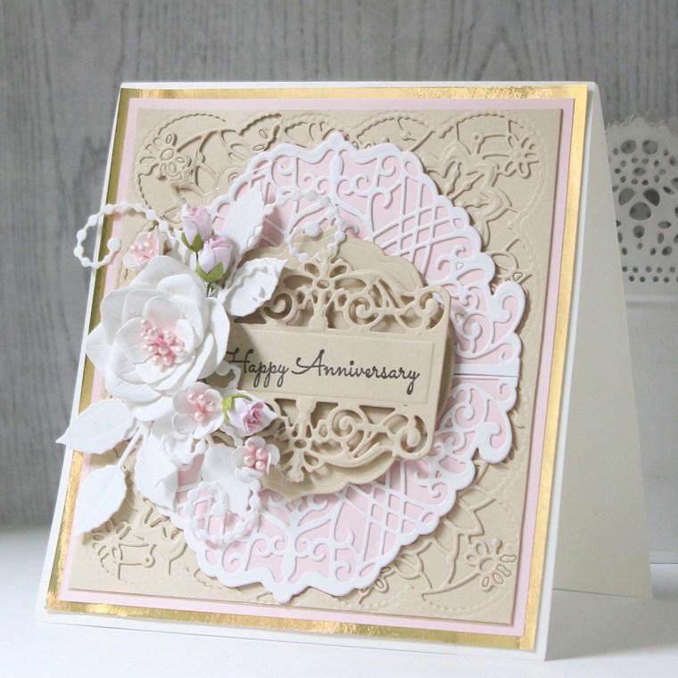 Spellbinders Candlewick Sampler Collection by Becca Feeken - Inspiration | Layered Card Ideas with Hussena Calcuttawala