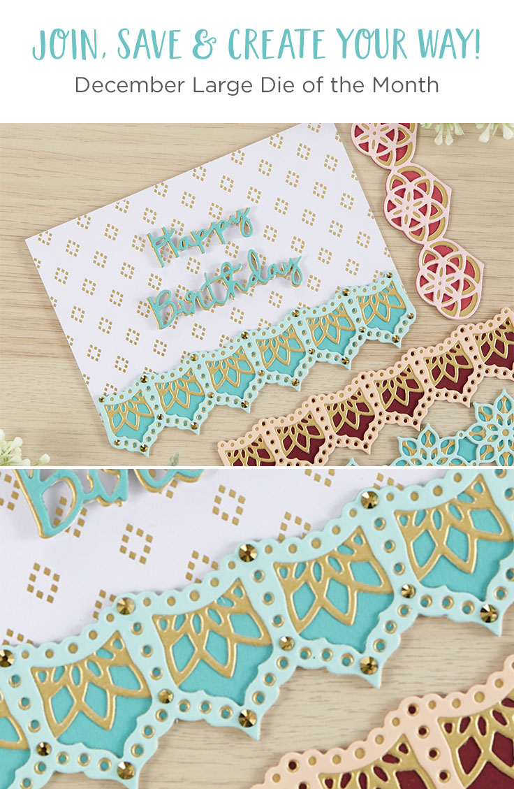 December 2019 Large Die of the Month is Here – Kaleidoscope Trio Strips and Borders