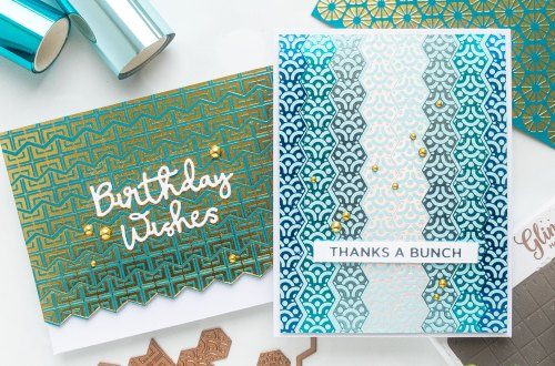 December 2019 Glimmer Hot Foil Kit of the Month is Here – Perfect Fit Hexagon Strips