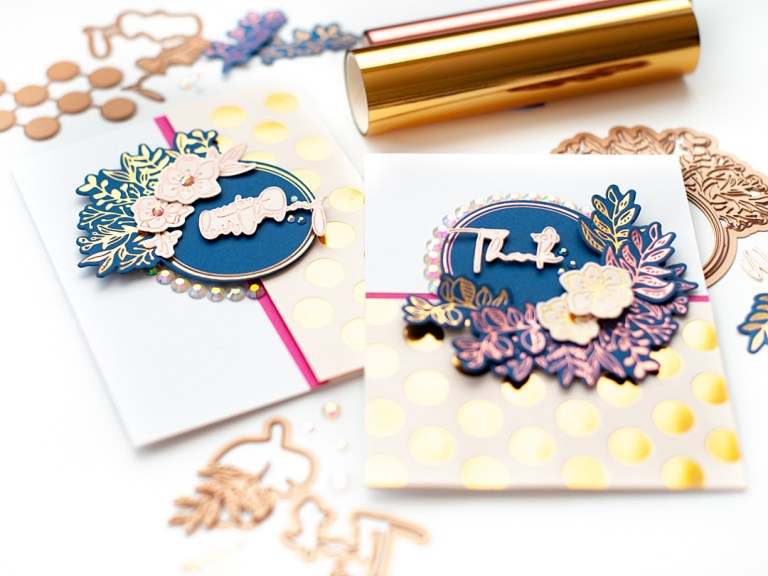 Spellbinders Foil Basics Collection by Yana Smakula - Inspiration | Classy Card Set Featuring Foiled Basics with Lea Lawson