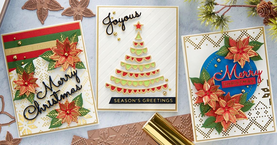 Spellbinders Glimmering Christmas Project Kit is Here! #Spellbinders #NeverStopMaking #DieCutting #Cardmaking #ChristmasCardmaking #GlimmerHotFoilSystem