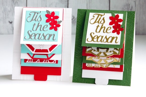 Spellbinders Christmas Cascade Collection by Becca Feeken - Kinetic Cards with Jean Manis #Spellbinders #NeverStopMaking #DieCutting #Cardmaking