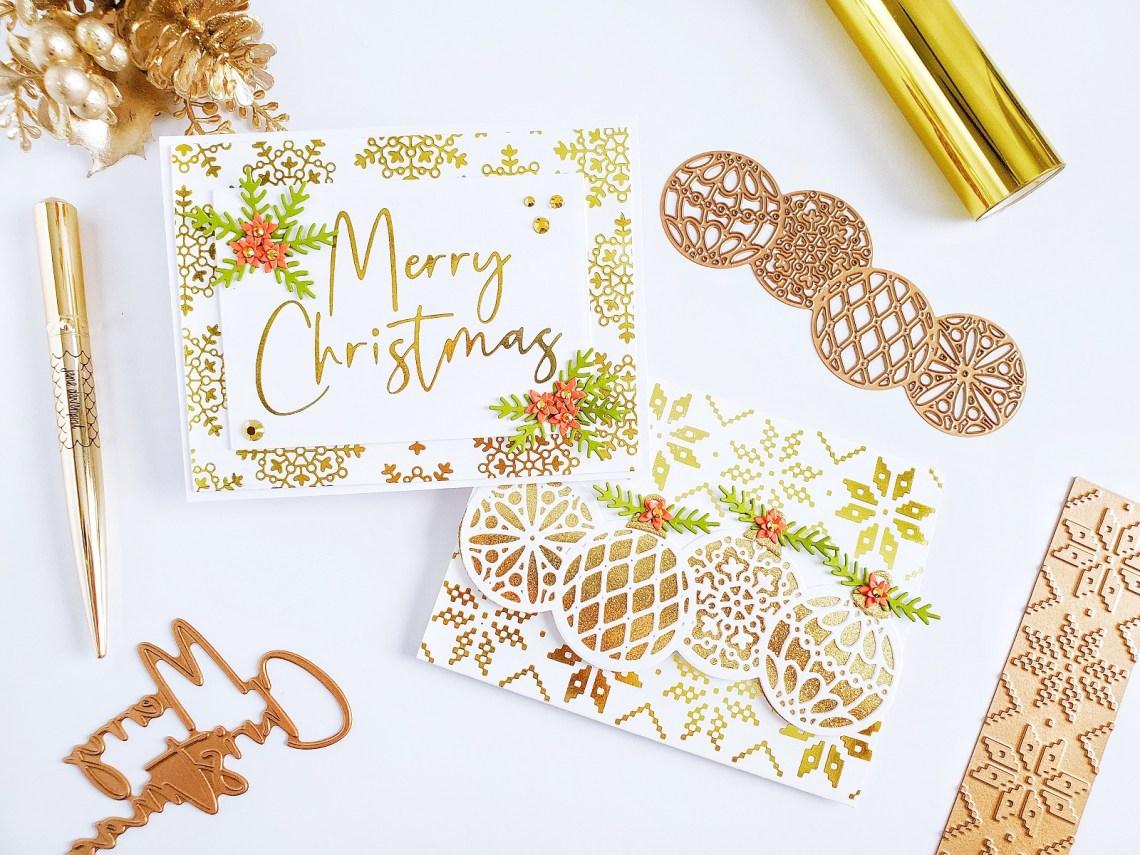 Spellbinders Sparkling Christmas Collection | Inspiration with Yasmin Dias #Spellbinders #NeverStopMaking #Christmascardmaking #Cardmaking #GlimmerHotFoilSystem