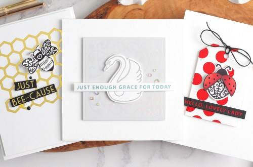 Becca Feeken Sweet Cardlets Glimmer Project Kit   Cardmaking Inspiration with Michelle Short   Video Tutorial #NeverStopMaking #DieCutting #Cardmaking #GlimmerHotFoilSystem