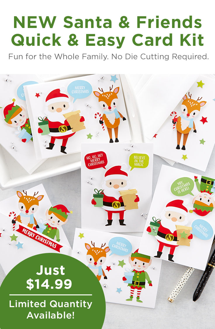 What's New | Santa & Friends Quick and Easy Card Kit