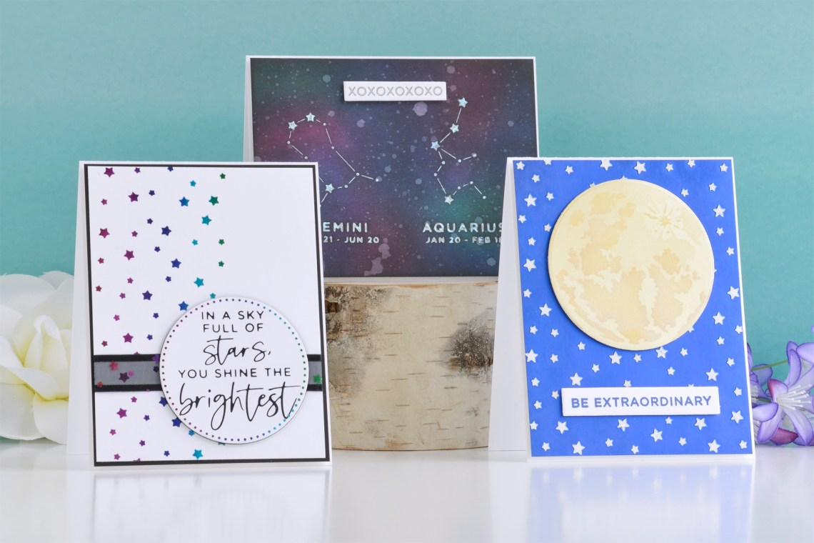 Celestial Zodiacs Collection – Clean and Simple Card Inspiration with Annie Williams