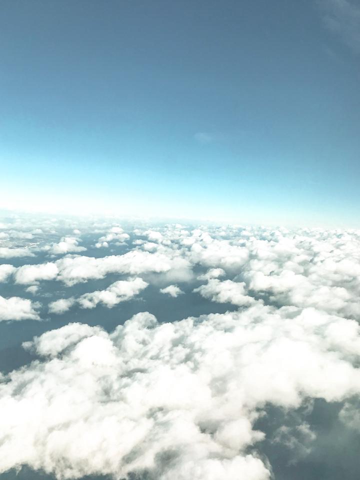 spellbound travels airplane clouds