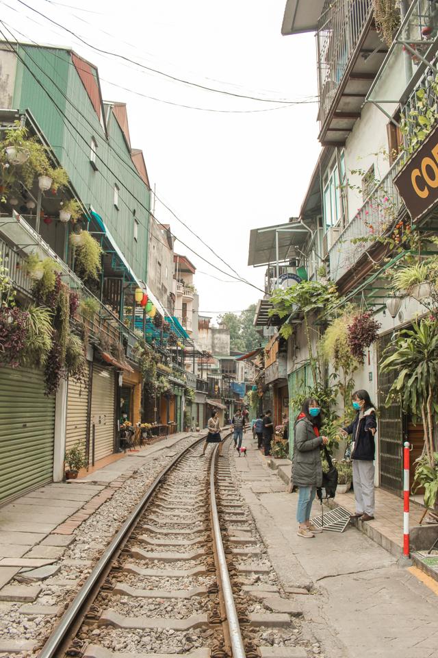 spellbound travels train street hanoi vietnam