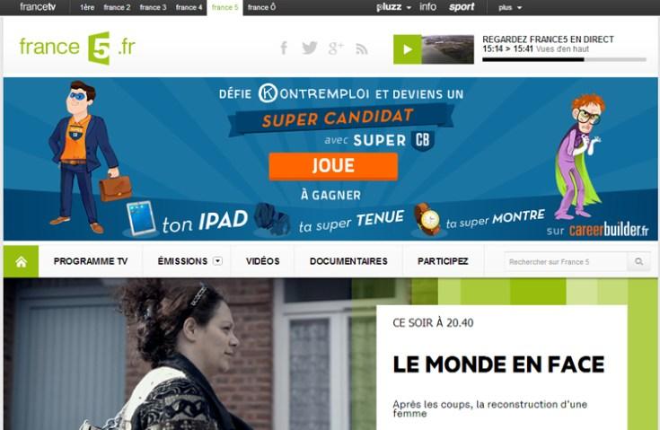 Publicité sur les sites de France TV