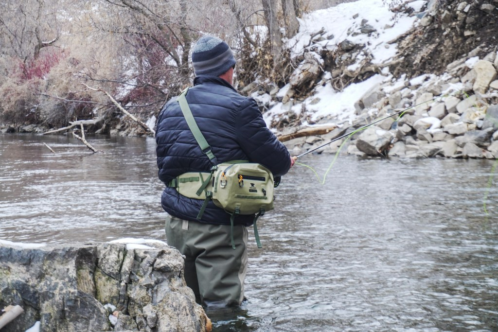 mountainsmith dry tour hip pack being fished