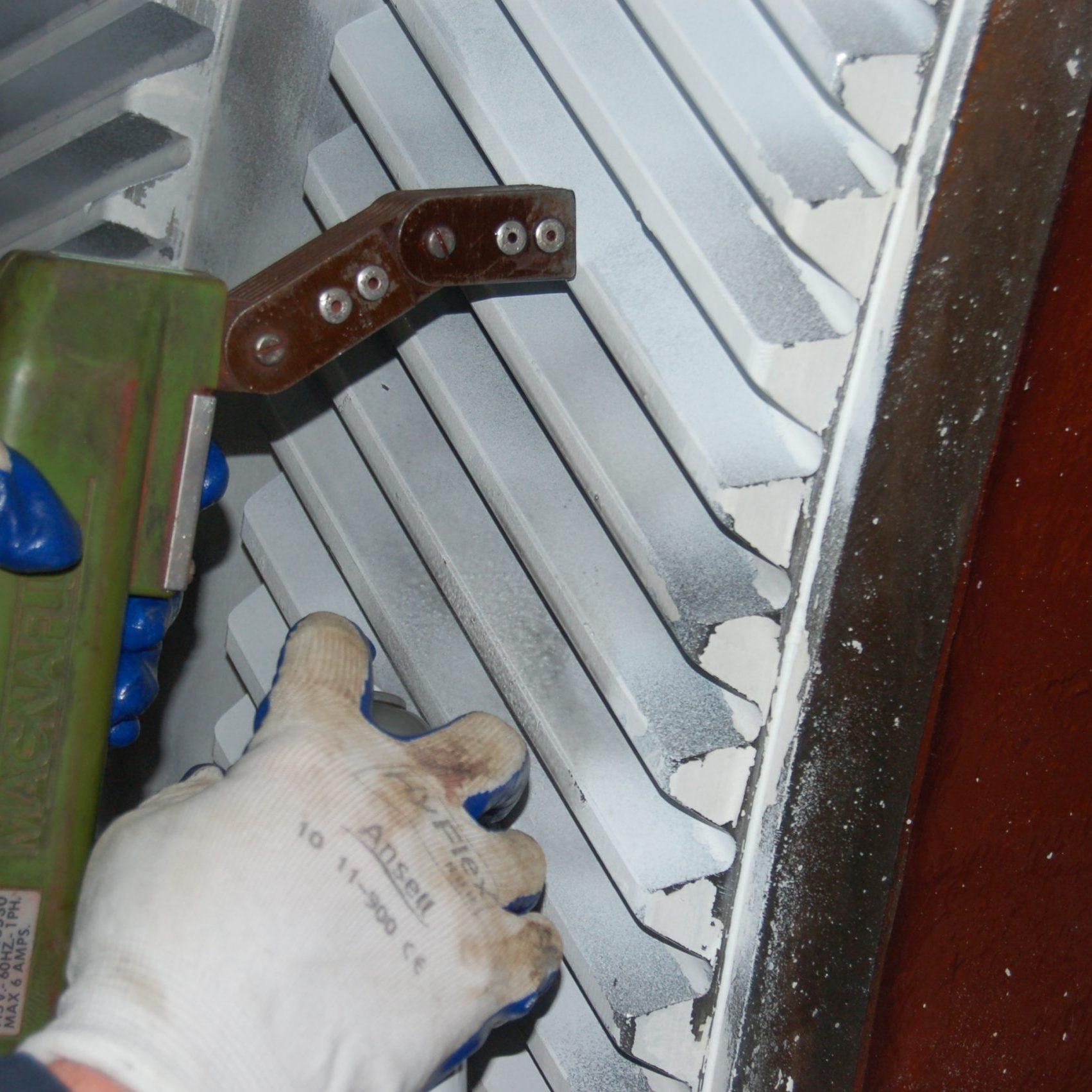 Mine hoist bullgear inspection