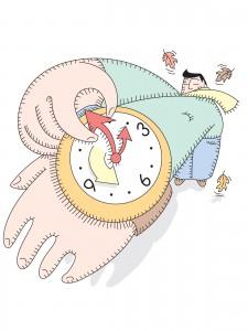clocks back for DST end
