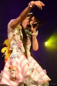 Japanese J-pop Idol singer performing live at Hyper Japan 2015
