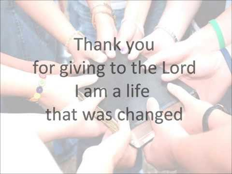 thank you for giving