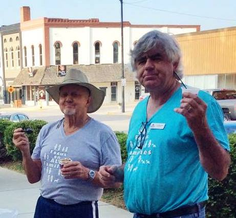 Ed O'Brien & Ed Staubach are pictured here setting up for the 2015 Spencer Pride Festival