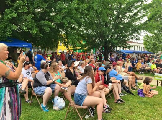 2016 Festival - Crowd Observes Bloomington BEAT