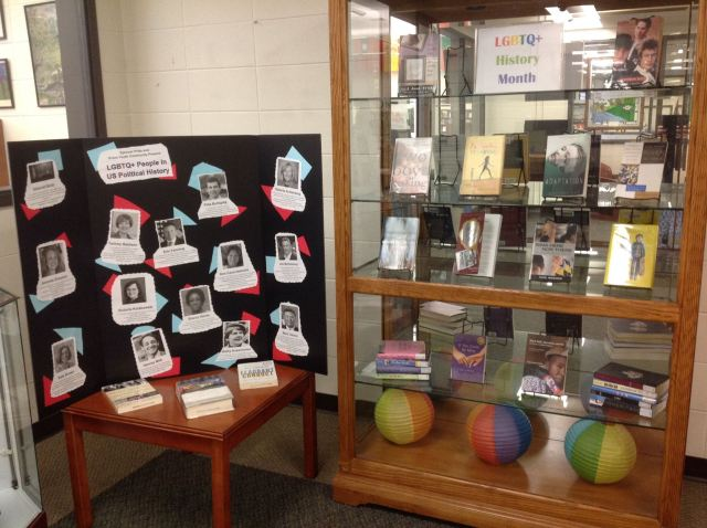 The 2016 LGBT History Month library display can be see throughout south central Indiana.