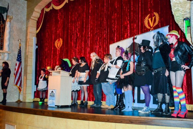 More than a  dozen attendees participated in the costume contest.