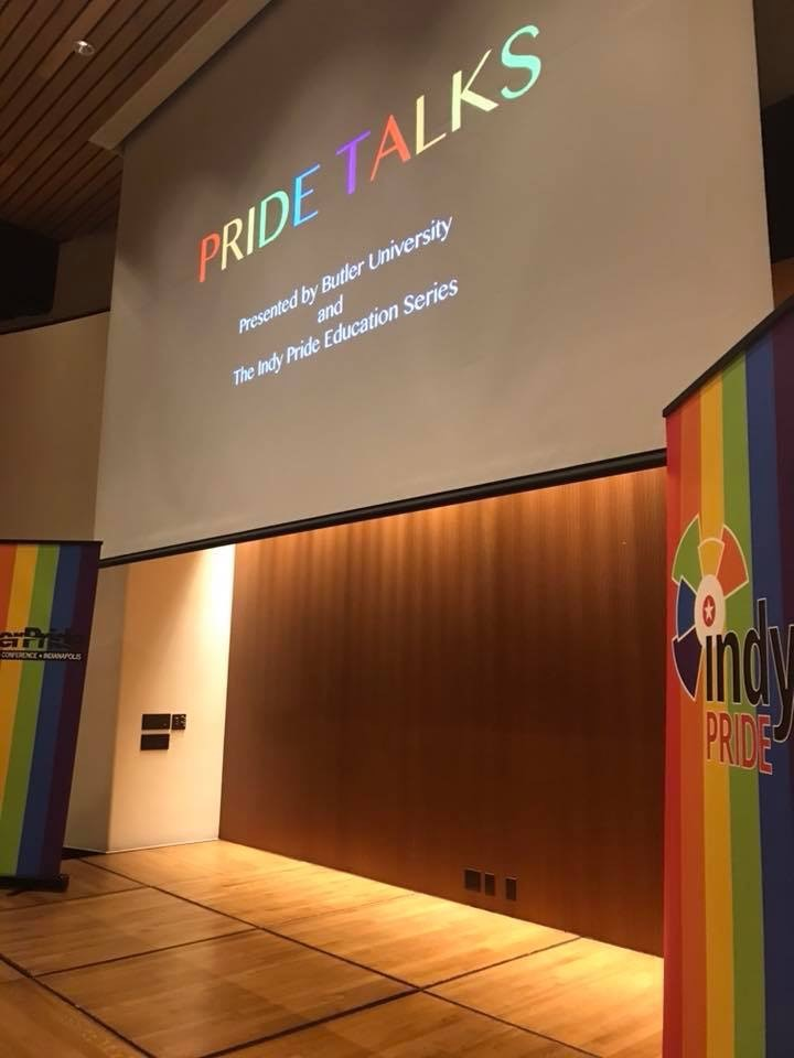 """Pride Talks"" took place at the Eiteljorg Museum in Indianapolis on October 6, 2017."