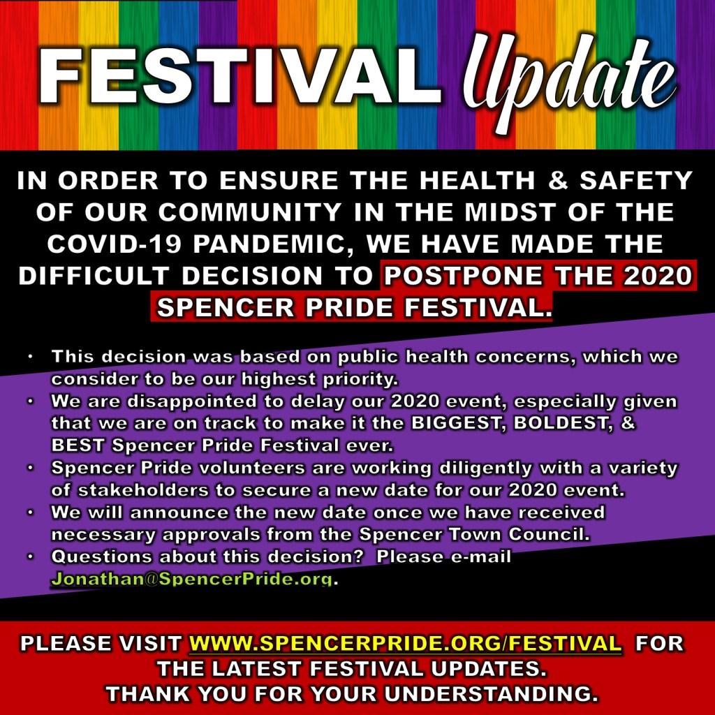 Festival Postponed - Announcement