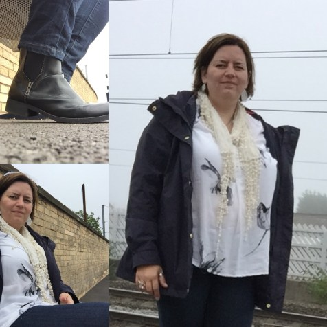 Im off to that there london for @kirstiemallsopp @handmadefair so This todays #ootd #dresslikeabrummum #dresslikeamum also its a bit drizzly here so I've got my boots out. Yey #autumniscoming @brummymummyof2
