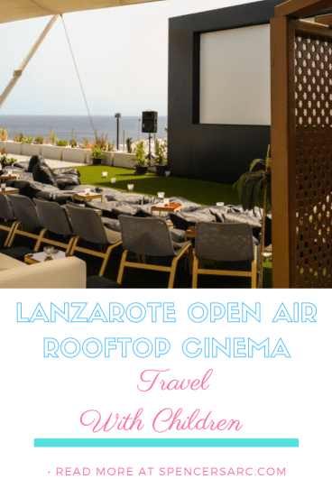 Lanzarote rooftop cinema pin, Open air cinema