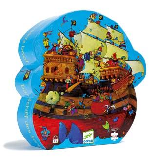 Djeco Silhouette Puzzle – Barbarossas Boat