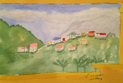St Kitts hillside