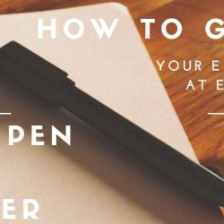 How to grow your email list at events: pen and paper