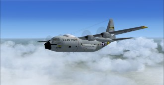 The C-130 on a flight to Bielefeld (EDLI) in Germany