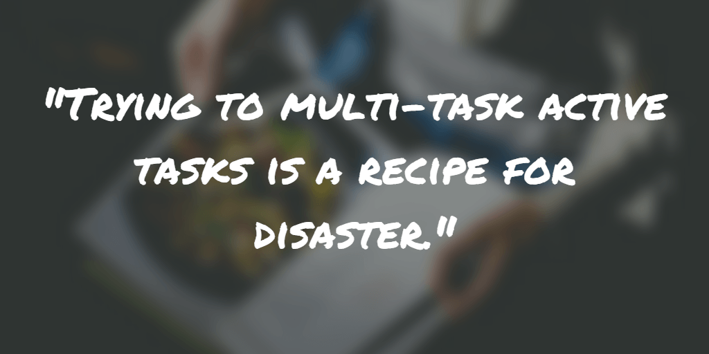 Multi-task productivity - spending done right