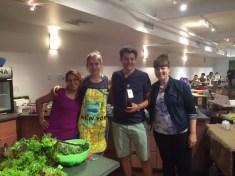 The crew, Vania, Eva, Michele and Me!