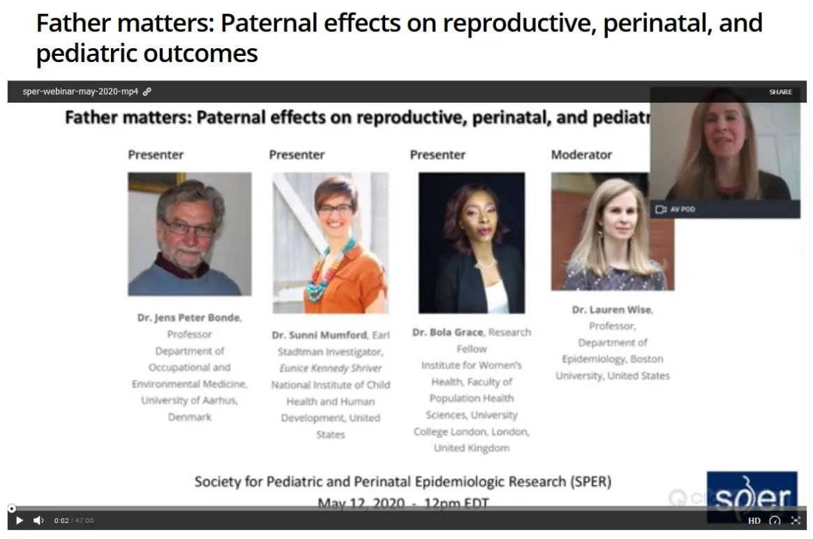 Father matters: Paternal effects on reproductive, perinatal, and pediatric outcomes