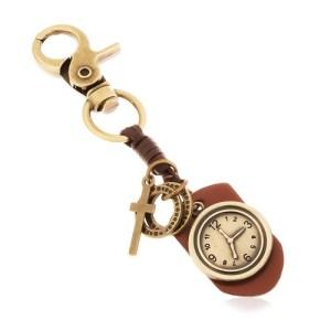 Kľúčenka s mosadzným odtieňom