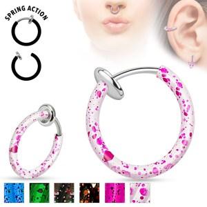 Oceľový fake piercing do nosa alebo do ucha