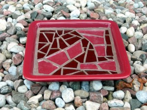 Red candle plate